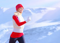 Healthy girl running outdoor