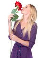 Smelling beautiful red rose - PhotoDune Item for Sale