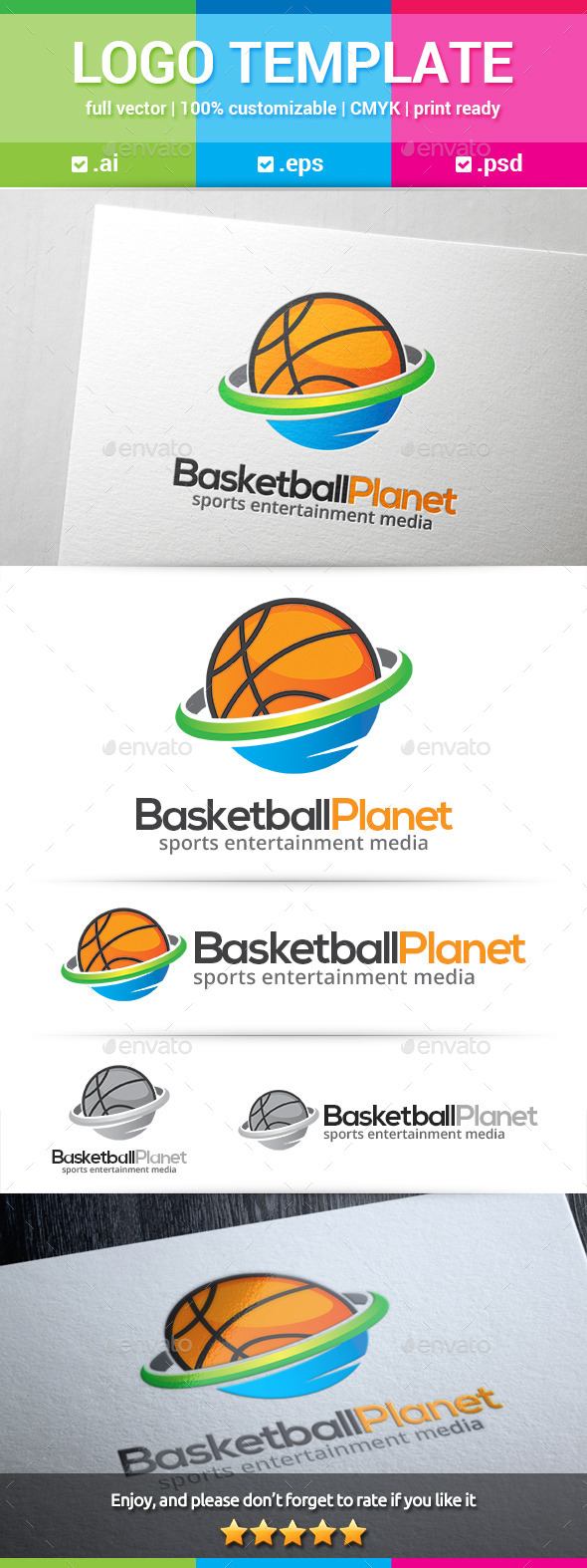 GraphicRiver Basketball Planet Logo 10281721