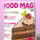 FOOD MAG - MAGAZINE COVER DESIGN v01