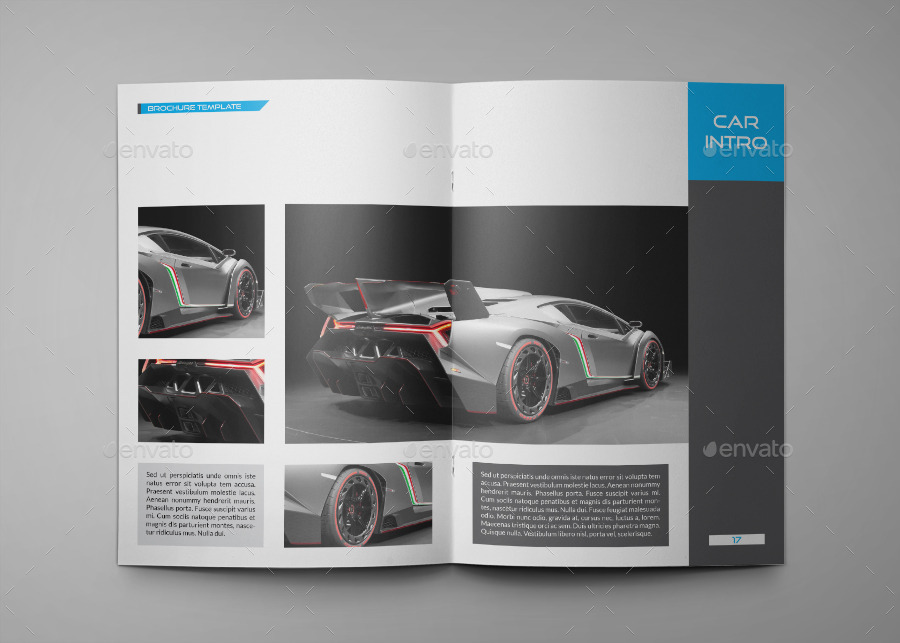 Car a4 indesign brochure template 0036 by annozio for Car brochure template