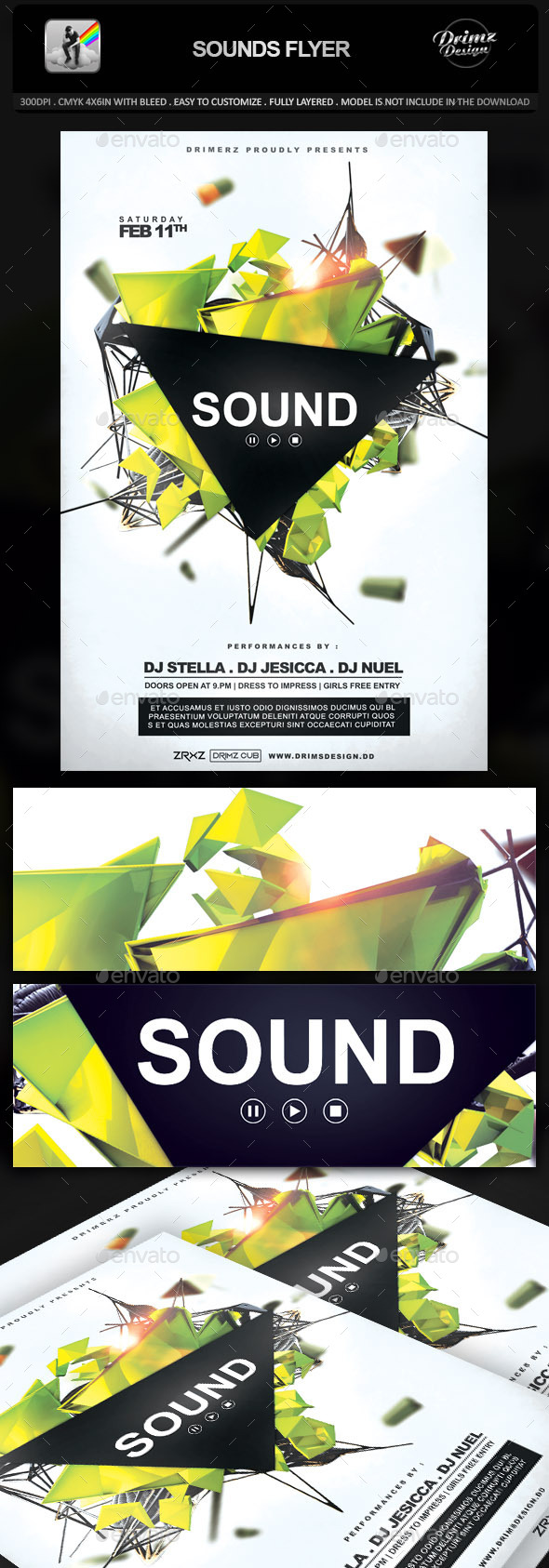 GraphicRiver Sounds Flyer 10282104