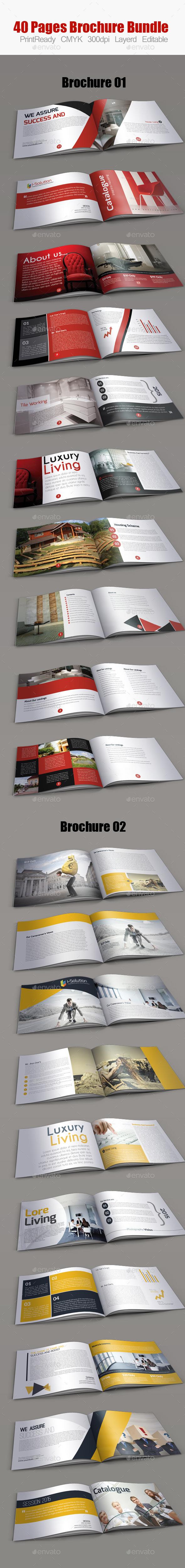 GraphicRiver Minimal Square Brochure Bundle 10282279