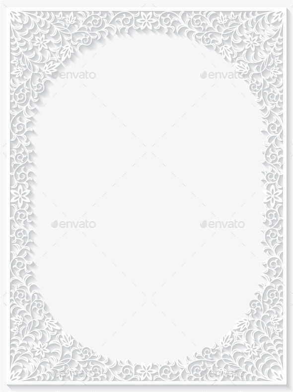 GraphicRiver Abstract Paper Floral Frame 10282319