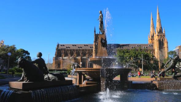 Archibald Fountain in Hyde Park