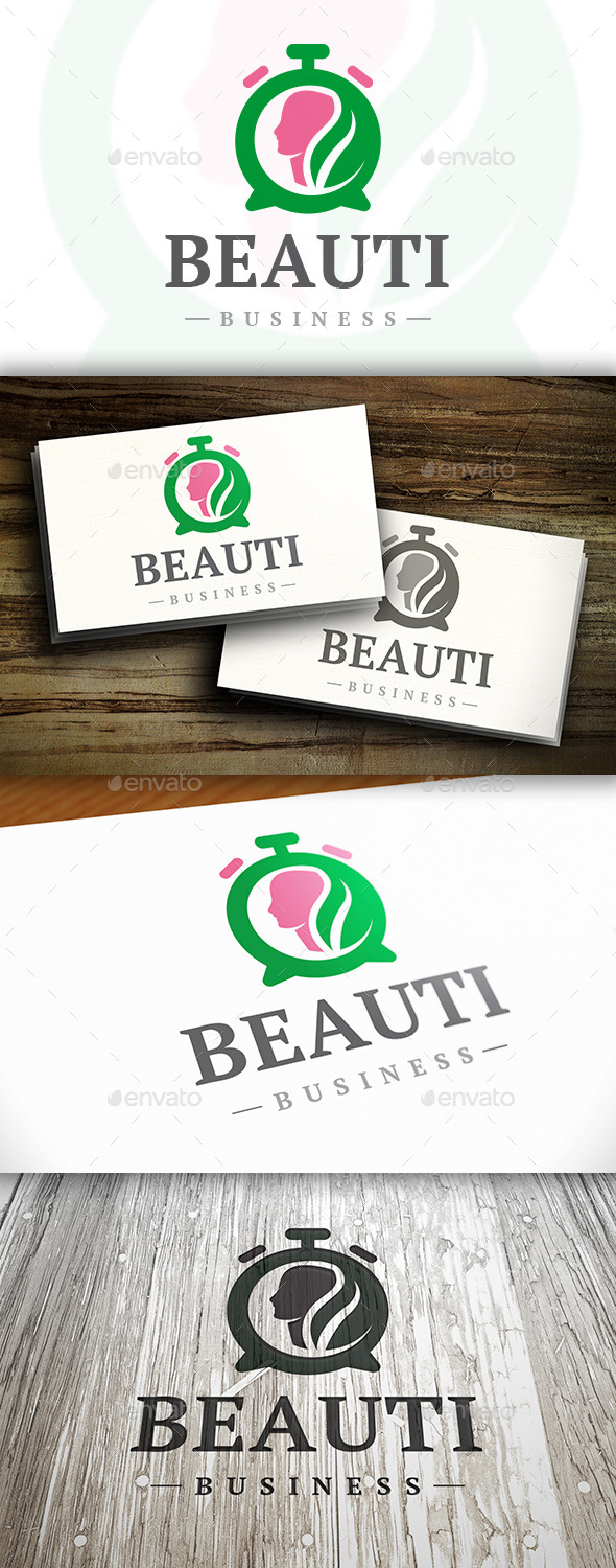 GraphicRiver Beauty Time Logo 10282747