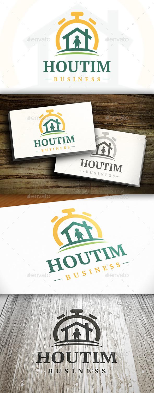 GraphicRiver House Time Logo 10282760