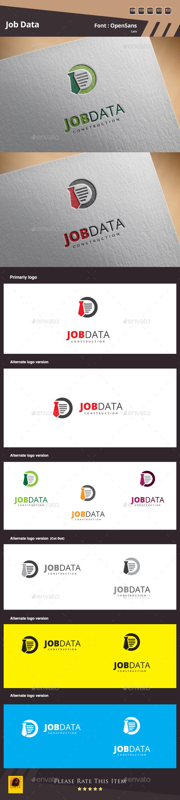 GraphicRiver Job Data Logo Template 10282804