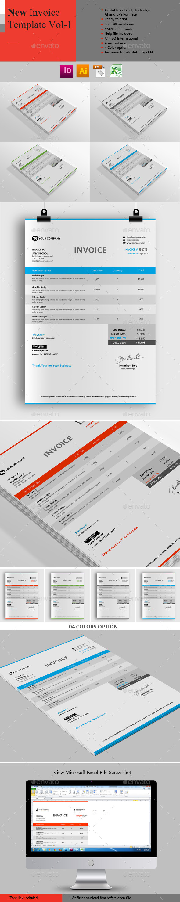 GraphicRiver New Invoice Template Vol-1 10239879