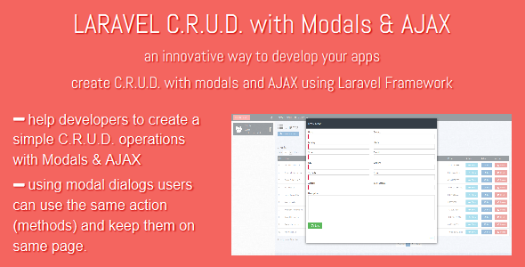 LARAVEL C.R.U.D with Modals & AJAX