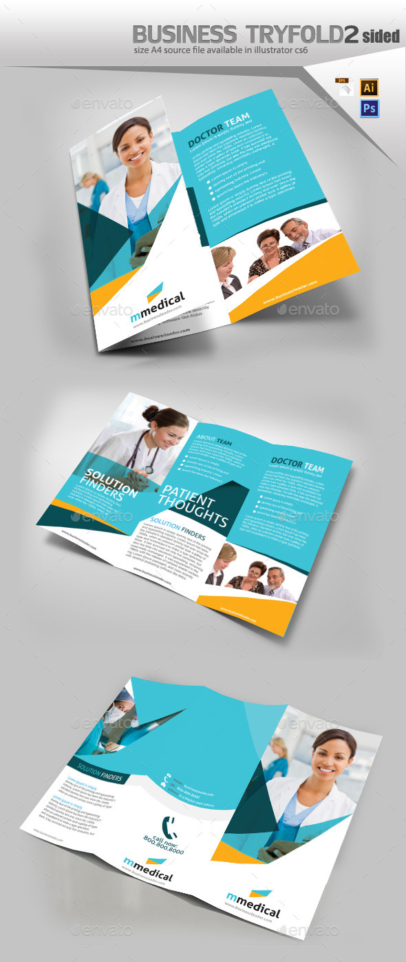GraphicRiver Medical Three Fold Pamphlet Design 10282892