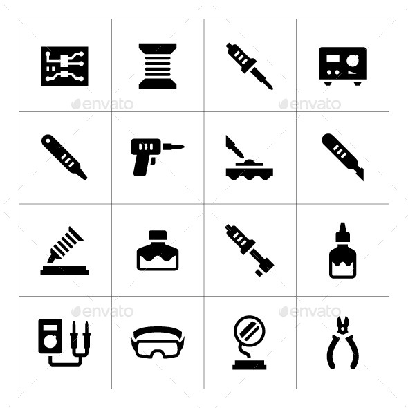 GraphicRiver Set Icons of Soldering 10282907