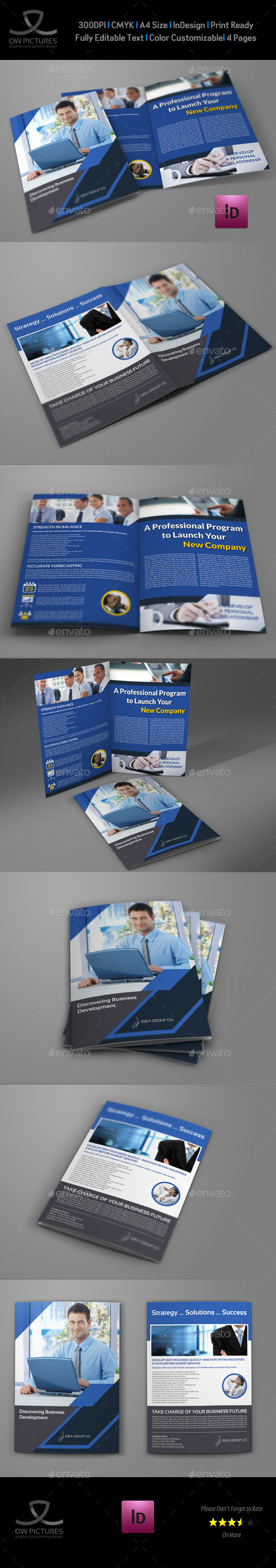GraphicRiver Company Brochure Bi-Fold Template Vol.39 10282950