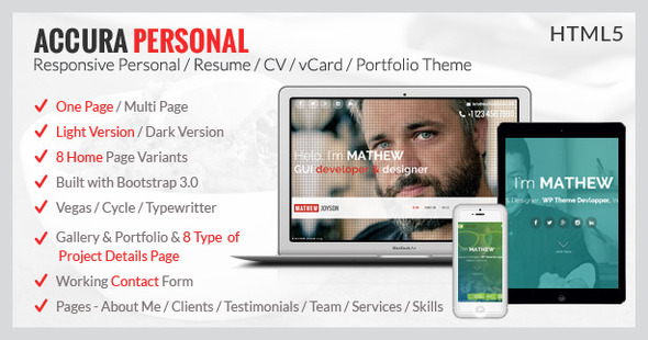 Architect / Builder / Single Property / Personal HTML Template - 7