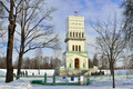 Winter  White Tower in Alexander park in Pushkin, - PhotoDune Item for Sale