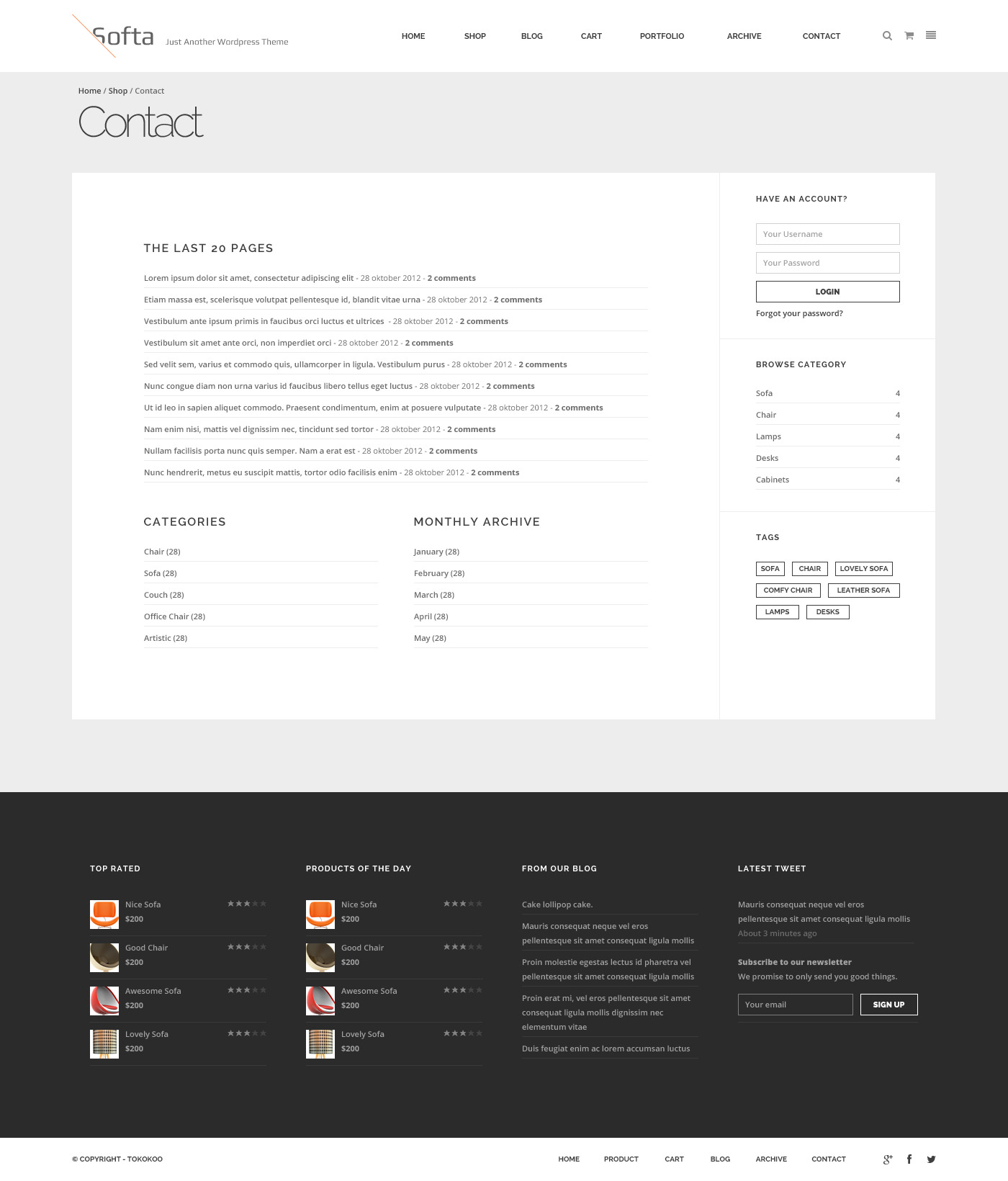 soffa electric commerce ~ soffa  furniture & business wordpress theme by tokopress