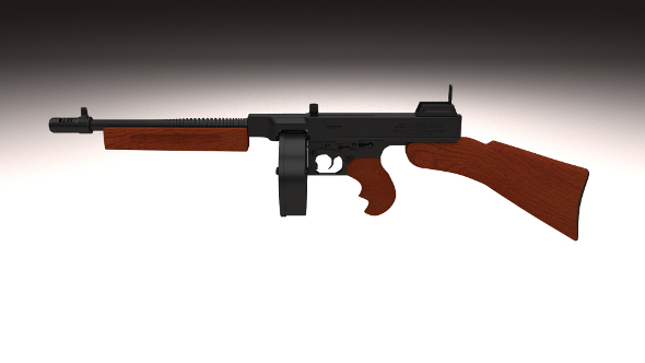 3DOcean Thompson 1928 Submachine gun 10283271