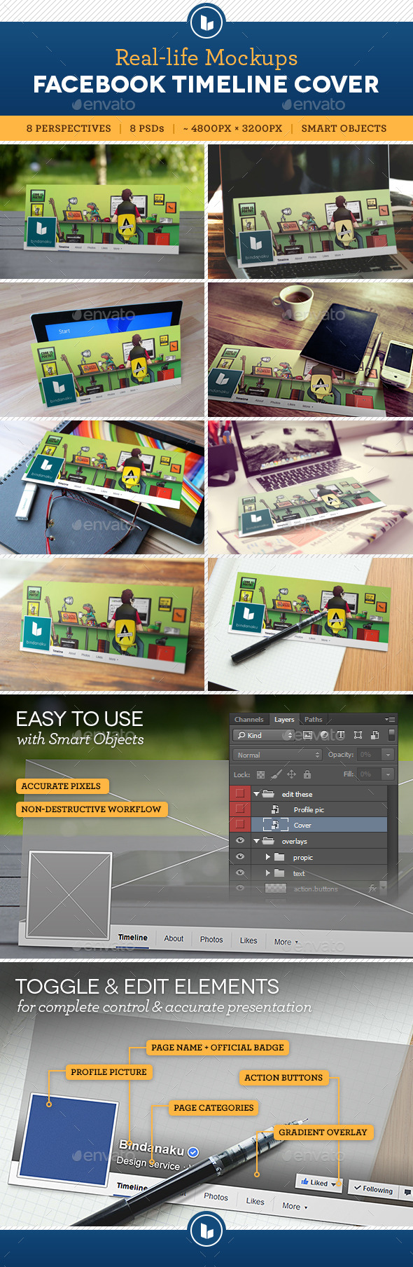 GraphicRiver Facebook Timeline Cover Real-Life Mockups 10271427