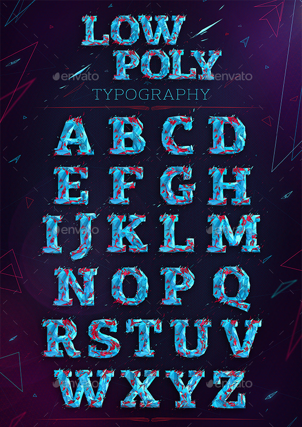 GraphicRiver Low Poly Typography 10283363