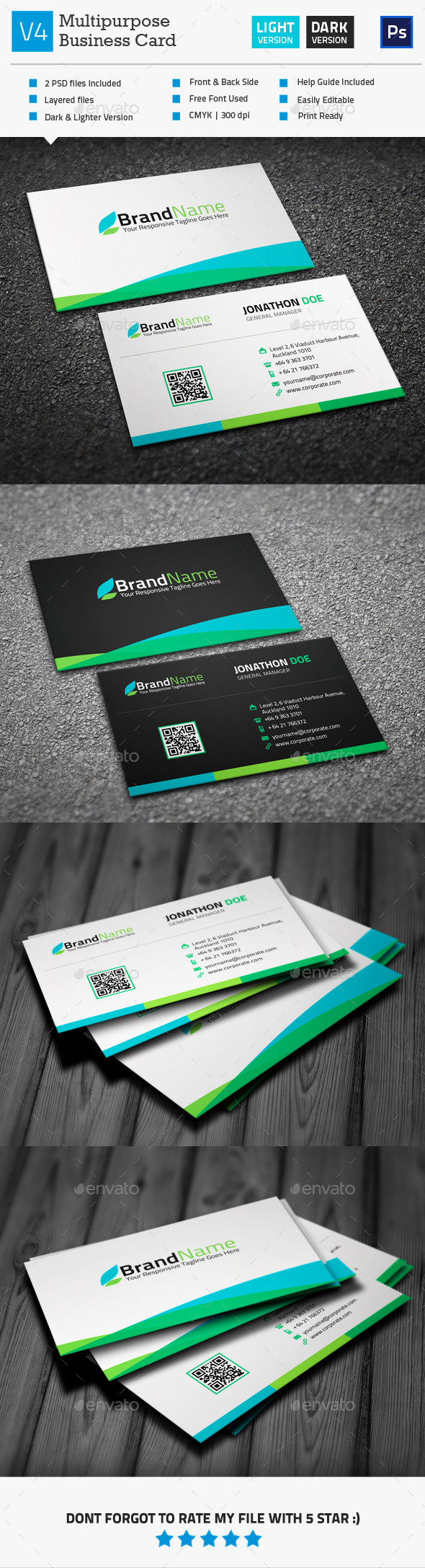 GraphicRiver Multipurpose Business Card V4 10251490