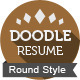 Doodle Resume Template (Round) - GraphicRiver Item for Sale