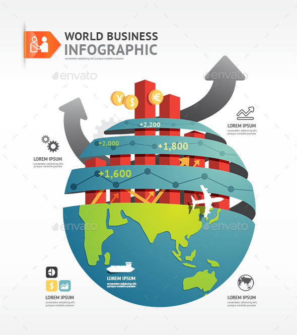 GraphicRiver Business World Infographic Concept Design Template 10283465