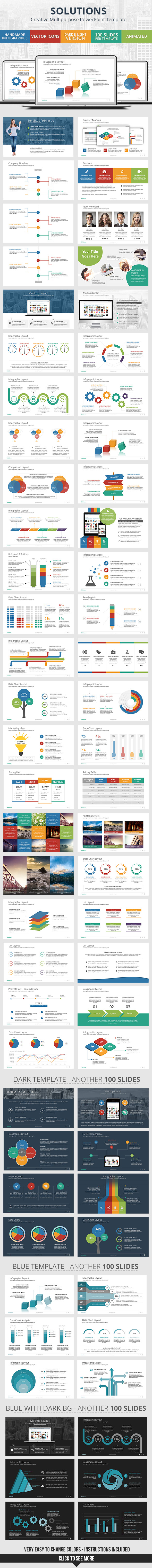 GraphicRiver Solutions PowerPoint Presentation Template 10284842
