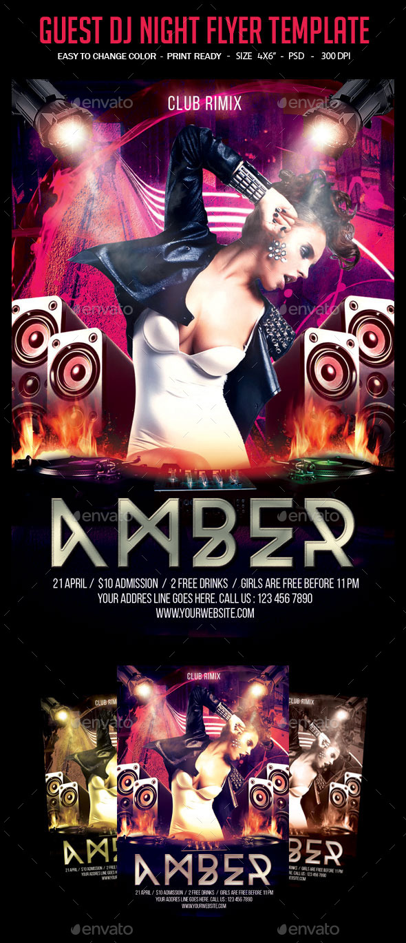 GraphicRiver Guest Dj Night Flyer Template 10284916