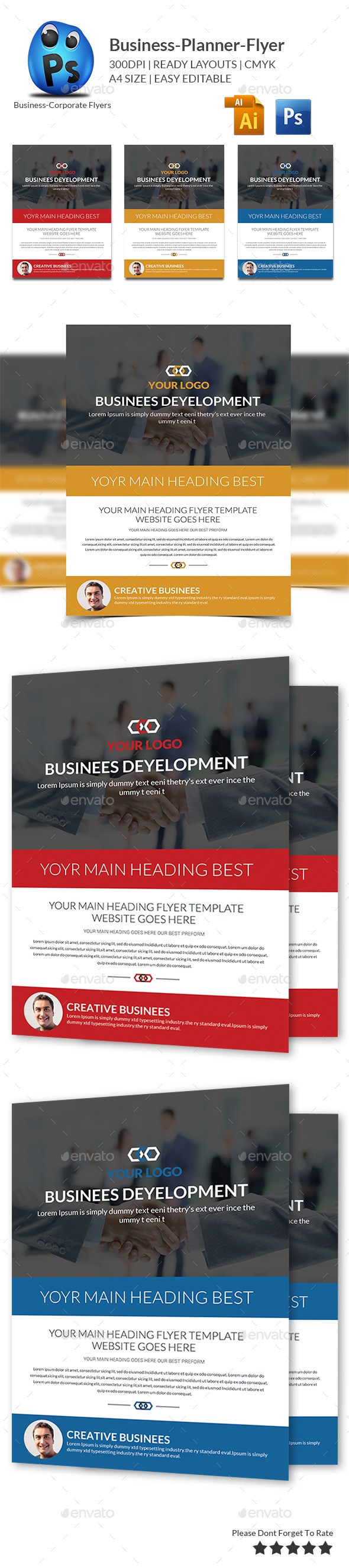 GraphicRiver Business Planner Flyer Print Templates 10284919