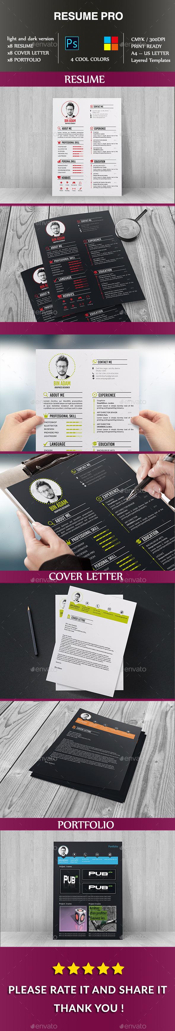 GraphicRiver Resume Pro 10284958