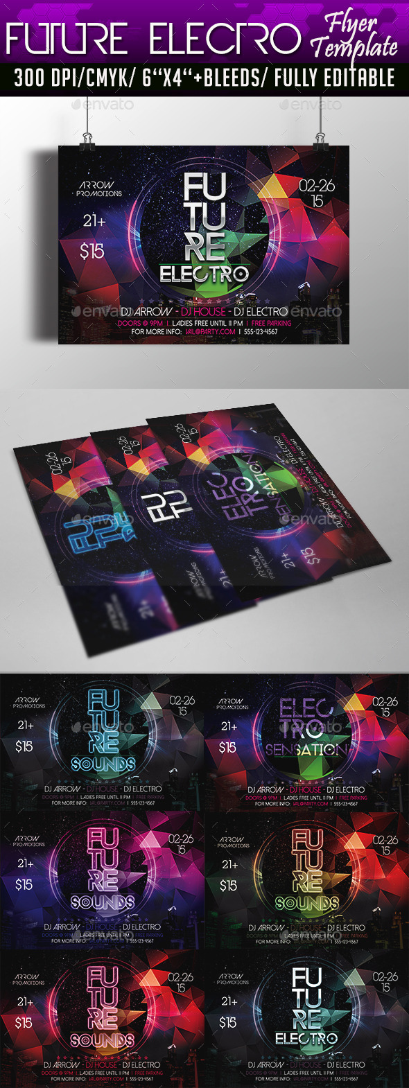 GraphicRiver Future Electro Flyer Template 10285008