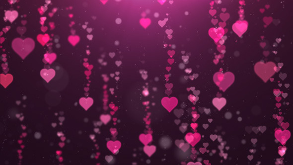 Falling Heart Background