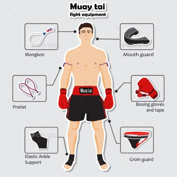 GraphicRiver Sport Equipment for Muay Tai Martial Arts 10285028