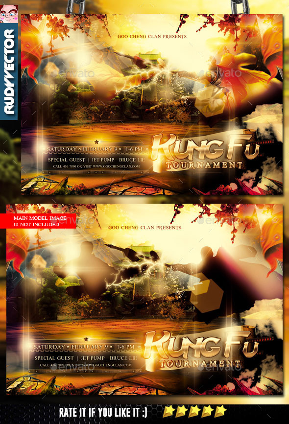 GraphicRiver Kung Fu Wushu Shaolin Martial Arts Flyer 10246257
