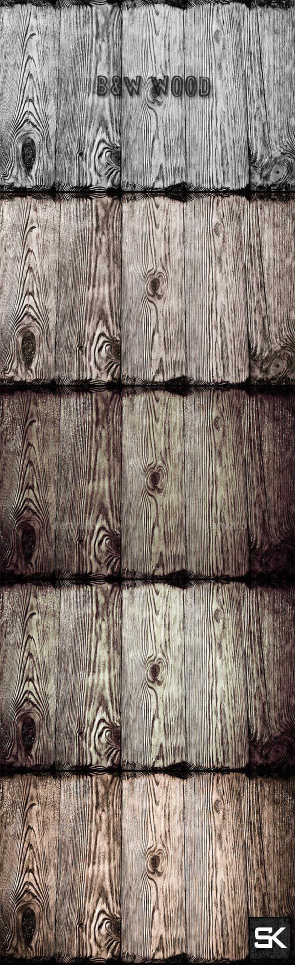 GraphicRiver B&W Wood 2 10285200