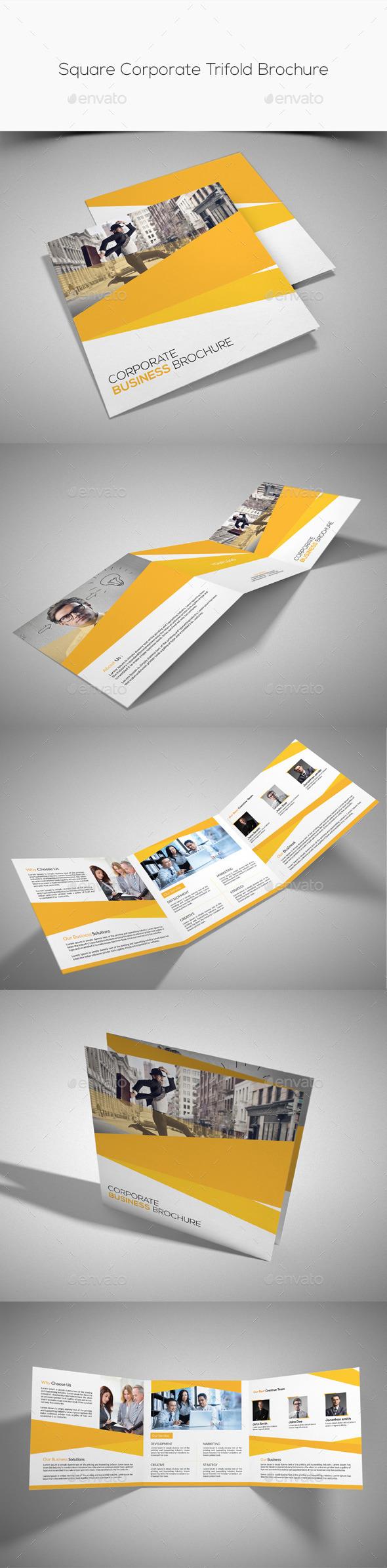 GraphicRiver Square Corporate Trifold Brochure 10285244
