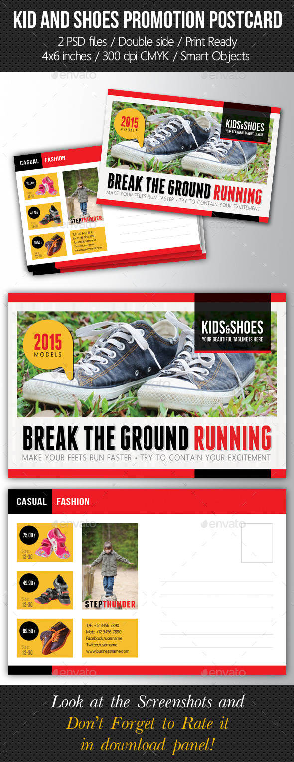 GraphicRiver Kid And Shoes Postcard Template V03 10285252