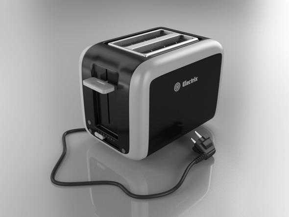 Toaster Plugged In ~ D model docean toaster dondrup
