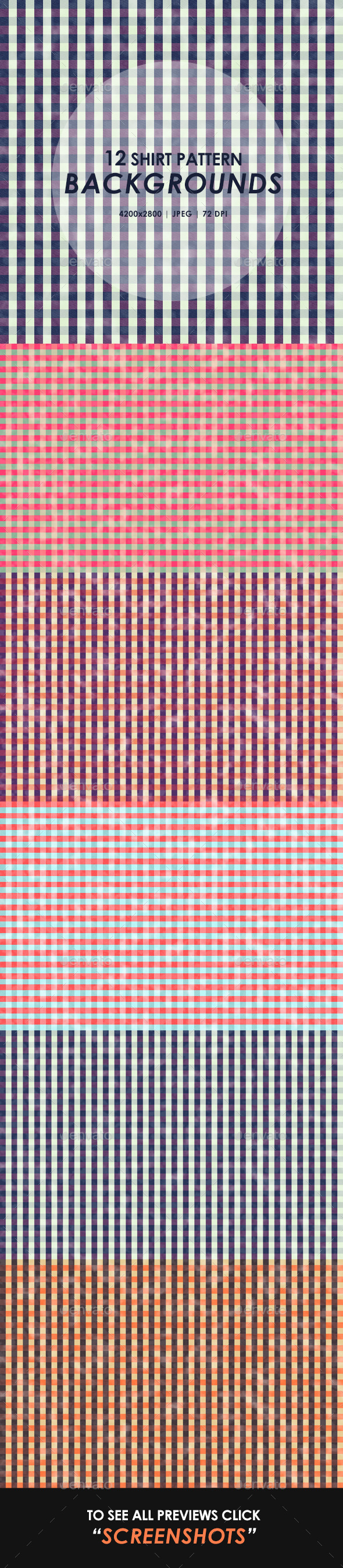 GraphicRiver Shirt Pattern Backgrounds 10285473