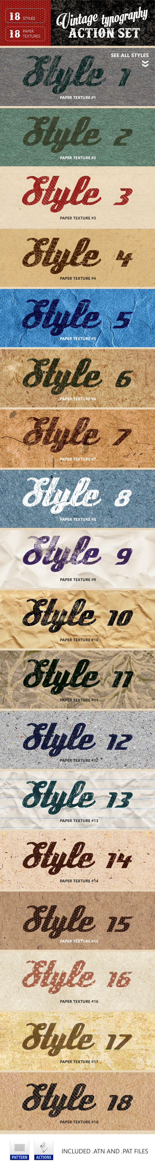 GraphicRiver Vintage Typography Letterpress & Paper Textures 10285472