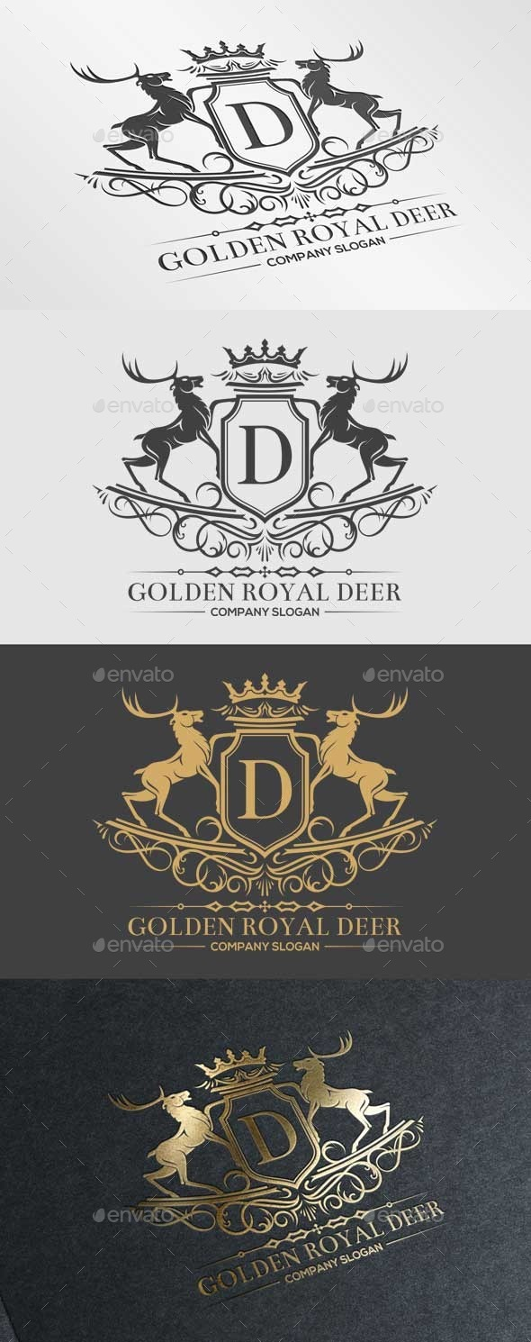 GraphicRiver Golden Royal Deer 10285539