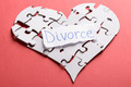 Divorce Label On Heart Made Of Puzzle - PhotoDune Item for Sale
