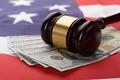 Gavel On Usa Dollar Banknotes And Us Flag - PhotoDune Item for Sale