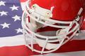 Red American Football Helmet - PhotoDune Item for Sale