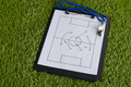 Whistle And Soccer Tactic Diagram On Paper - PhotoDune Item for Sale