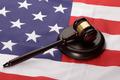 Wooden Gavel Over Usa Flag - PhotoDune Item for Sale