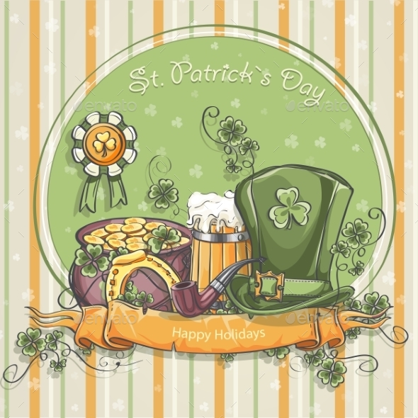 GraphicRiver Greeting Card for St Patrick s Day 10285623
