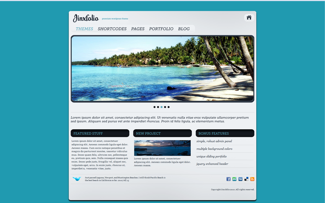 Jinxfolio - 28 Themes