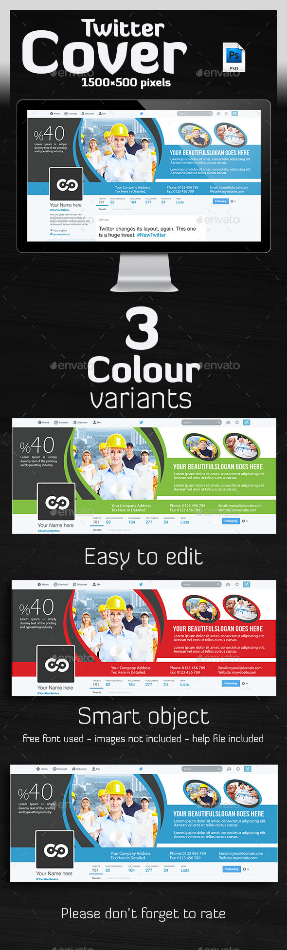 GraphicRiver Multipurpose Twitter Header Cover 10286172