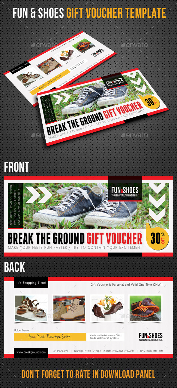GraphicRiver Fun and Shoes Gift Voucher V03 10286182